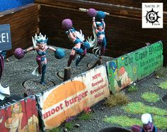 Transanal Evisceration (Dark Elf Blood Bowl Team) by Painted By-g