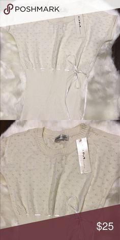 Cute cream bow blouse Cute cream bow blouse. Size S. super cute and soft. NWT Tops Blouses