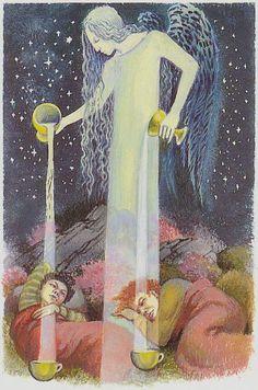 AstroSpirit / Aquarius ♒ / Air / Le Verseau / Aquário  / 4 of Cups - Tarot of Northern Shadows
