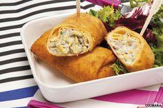 Receita de Crepes de atum fritos. Descubra como cozinhar Crepes de atum fritos de maneira prática e deliciosa com a Teleculinária!
