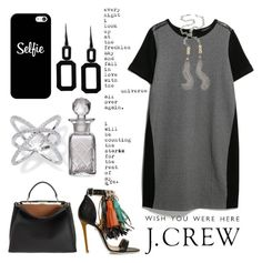 """""""Untitled #2434"""" by gaburrus ❤ liked on Polyvore featuring Violeta by Mango, MSGM, Fendi, J.Crew, Rebecca, Casetify, Cultural Intrigue, Jessica Elliot and She's So"""