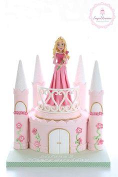 Sleeping Beauty ~ castle cake                                                                                                                                                     More