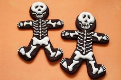 chocolate skeleton cakes