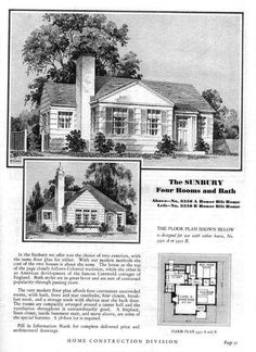 Sears Modern Home - No. 3350A or 3350B or The Sunbury
