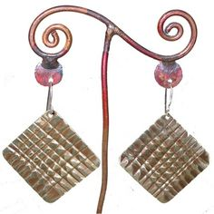 Bronze Square Earrings
