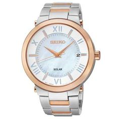 Ladies' Seiko Solar Watch with Mother-of-Pearl Dial (Model: SNE882)