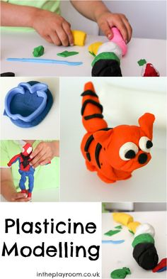 Plasticine modelling ideas and tips. Plasticine is great for hand strengthening and creativity!