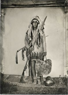 Comanche War Chief, 1860. Willie Covers Up