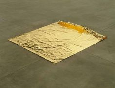 Roni Horn  Gold Field, 1982  Pure gold foil  124.5 x 152 x 0.002 cm / 49 x 59 7/8 x in