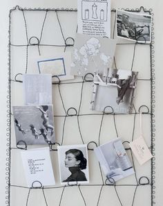 I actually have this exact wire memo board hanging in my kitchen, except in a beautiful sage green.  LOVE.  Functional can be pretty :)