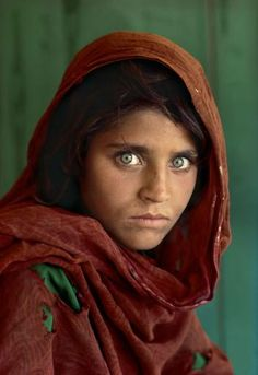 Afghan girl; Sharbat Gula,1984  by Steve McCurry