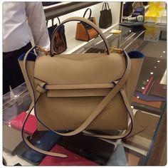 2350. Celine Beige with Blue Lining Mini Belt Bag