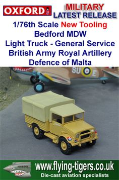 76MWD002 New 1/76th Scale Bedford MWD Light Utility Truck 'British Army Defence of Malta' - Fantastic new diorama accessory, available now.