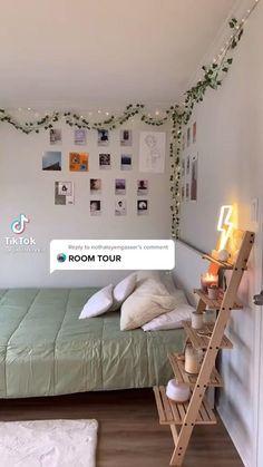 Indie Room Decor, Cute Bedroom Decor, Room Design Bedroom, Teen Room Decor, Room Ideas Bedroom, Diy Dorm Room, Small Bedroom Ideas For Teens, Diy Room Ideas, College Bedroom Decor