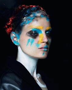 "INSPIRATION: ""THE PAINTED LADY"" LOVE #8 MAGAZINE MUA: Lucia Pieroni HAIR: Julien d'Ys PHOTO: Mert + Marcus"