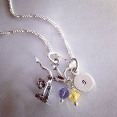 Sporty Girl Gymnast Hand Stamped Initial Necklace on Etsy, $20.00