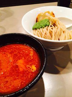 Shurimp Tomato Tsukemen with Cheese  海老トマトつけ麺