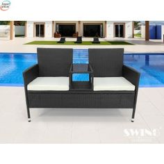 """Kreta"""" sofa til 2 - Brun Conservatory Furniture, Garden Furniture, Outdoor Furniture Sets, Shops, Outdoor Chairs, Outdoor Decor, Cover Design, Black And Brown, Love Seat"""