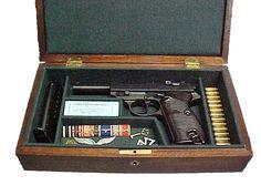 Walther PPK, Engraved W/Wood Presentation Case, Wood Grips … - bigoltrucks Rifle Rack, Case Presentation, Pistol Case, Gun Cases, Gun Storage, Wood Chest, Wooden Jewelry Boxes, Guns And Ammo, Custom Boxes