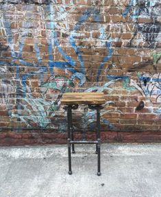 Bar Stool Industrial Stool  Pipe Stool Man Cave by TheCleverRaven