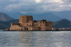 Bourtzi Sea Castle in Nauplion, Peloponnisos, Greece