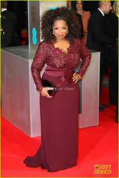 Celebrity Plus Size Mother Of The Bride Dresses Inspired By Oprah Winfrey 2014 Long Sleeve Evening Gowns A Line Sweep Train Formal Dress