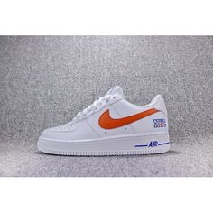 size 40 30fc4 6a013 2018 Cheap Nike Air Force 1 NYC AF1 Low Mens Sneakers White Orange Blue Sale