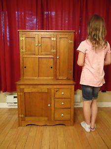 1930's Juvenile Hoosier Cabinet, Miniature Childs kitchen cabinet ...