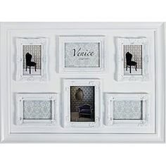 Venice Frame 57x80 - White, 6 Openings. Also comes in black