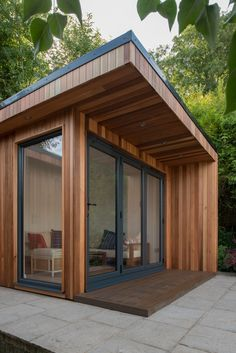 Garden Room with Store - Contemporary Garden Rooms by Harrison James Tropical House Design, Small House Design, Tropical Houses, Interior Window Trim, Interior And Exterior, Room Interior, Tiny House Exterior, House Exteriors, Urban Interior Design