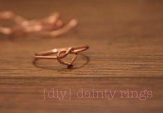 Delicious Duds: dainty rings {DIY tutorial}