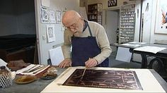 Pierre Alechinsky in his studio, working on a copper plate # printmaking History Of Typography, Tachisme, Art Pierre, Printing Press, Museum Of Fine Arts, American Artists, Artist At Work, Abstract Expressionism, Great Artists