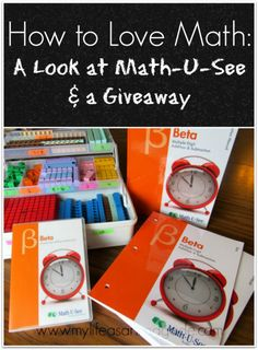 How to Love Math: A Look at Math-U-See & a Giveaway - My Life as a Rinnagade homeschool, autism, healthy living