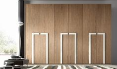 Bedroom Design: 59 ideas wardrobe wood finish and glass panels Wardrobe Interior Design, Wardrobe Door Designs, Wardrobe Design Bedroom, Bedroom Furniture Design, Wardrobe Doors, Closet Designs, Cabinet Door Designs, Bedroom Cupboard Designs, Wooden Wardrobe