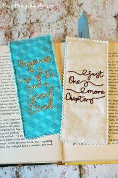 DIY Hand Embroidered Bookmarks - BusyBeingJennifer.com
