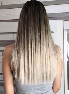 35 Hot Ombre Hair Color Trends for Women in 2019 - Page 23 of 35 - VimDecor - ombre straight hair, brown ombre hair, blonde ombre hair, dark hair, balayage hair - # Brown Ombre Hair, Brown Blonde Hair, Ombre Hair Color, Hair Color Balayage, Hair Highlights, Color Highlights, Ombre Hair Styles, Blonde Balayage, Carmel Highlights