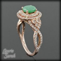 cabochon jade diamond double halo engagement ring ls1937 i want them all - Jade Wedding Ring