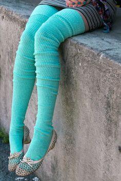 Whole website that sells thigh high socks, stockings, hose and Long Cuffable Scrunchable Socks Azul Tiffany, Verde Tiffany, Tiffany Blue, Shades Of Turquoise, Turquoise Color, Thigh High Socks, Thigh Highs, Ankle Socks, Turquoise Cottage
