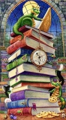 So Many Books So Little Time cross stitch chart from Heaven and Earth Designs