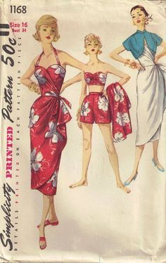 50's sarong dress pattern