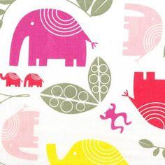 Elefantdjungel Raspberry & Pink Wide Width