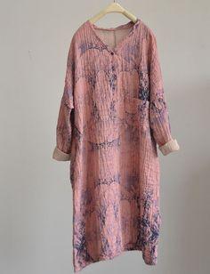 Pink Inky Landscape Dress