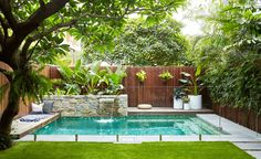 landscape design swimming pool garden landscaping ideas for small backyard pictures designs at the in large.landscape design swimming pool garden furniture glamorous designs with… Backyard Pool Designs, Small Backyard Gardens, Small Backyard Landscaping, Swimming Pools Backyard, Swimming Pool Designs, Backyard Patio, Landscaping Ideas, Landscaping Software, Small Swimming Pools