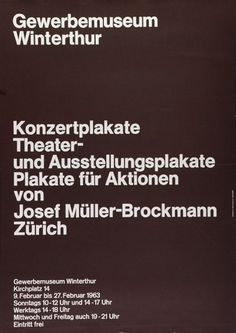 Gewerbemuseum Winterthur    Design – Hans Neuburg
