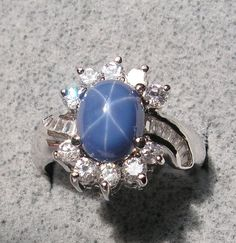 Blue Star Sapphire Ring, Fine Jewelry, Jewellery, Star Ring, Star Designs, Veronica, Vintage Rings, Jewelry Watches, Gems