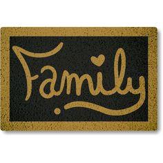 Tapete Capacho Family - Preto