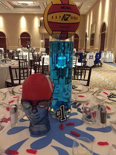 Waterpolo Swim Dive Aquatic's Water Polo Banquet Centerpieces