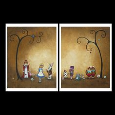 Whimsical Art Fairytale Print Set  Alice in by RusticGoth on Etsy