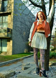 How To Wear Patterned Tights: Barbara Ann Solomon