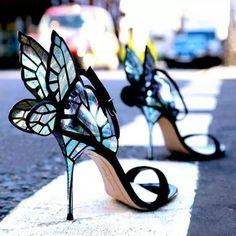Beautiful Butterfly Heels – The Infinity Emporium Barbara Silva, Butterfly Heels, Glass Butterfly, Blue Butterfly, Butterfly Wings, Crazy Heels, Stiletto Heels, Shoes Heels, Women's Stilettos